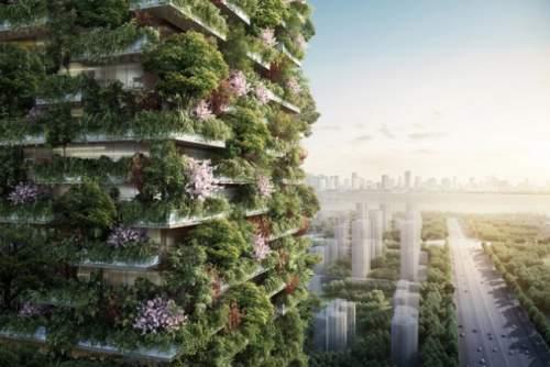 Pădurea verticală din Nanjing