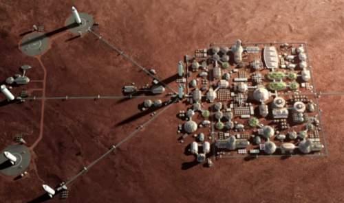 Conceptul unui oraș în devenire pe Marte