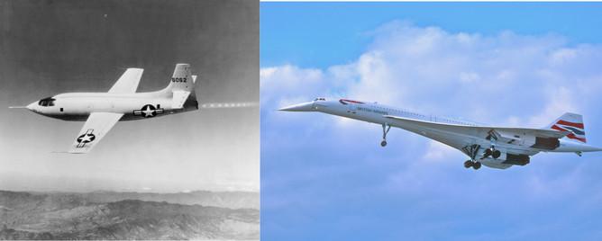 Bell X1 și Concorde