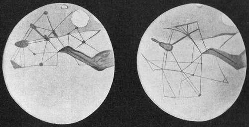 Canalele de pe Marte desenate de Percival Lowell