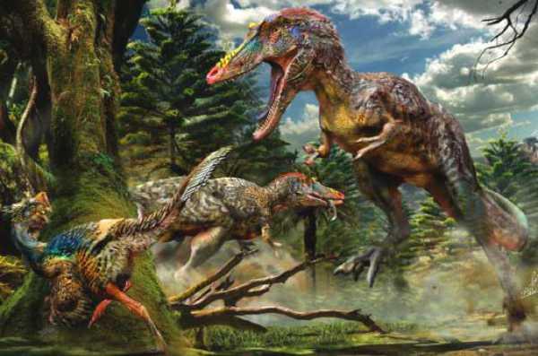 Qianzhousaurus la vânătoare