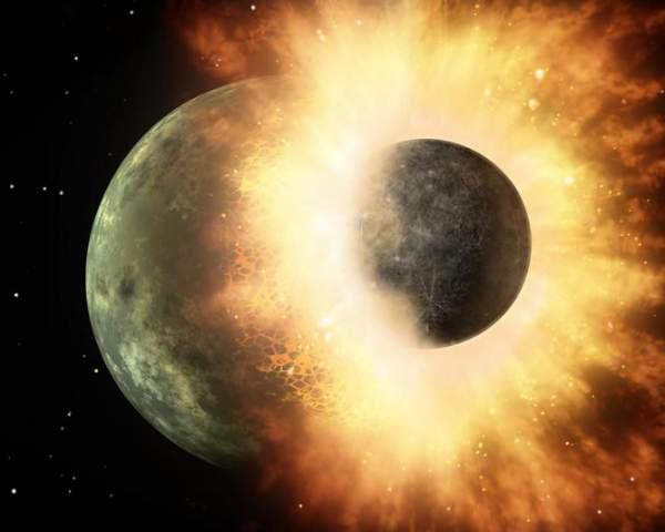 Formarea Lunii în urma unui impact planetar