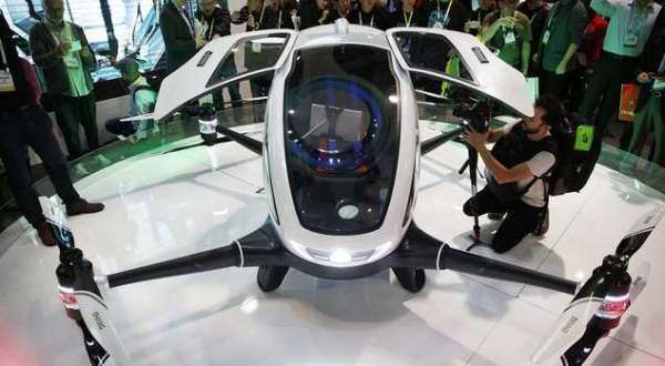 Drona Ehang 184 la CES 2016 - Las Vegas