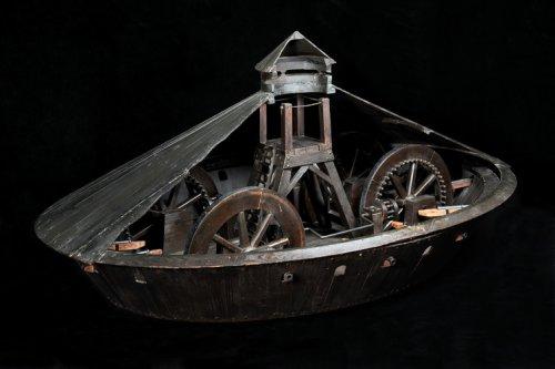 Leonardo da Vinci-Modelul unui vehicul blindat