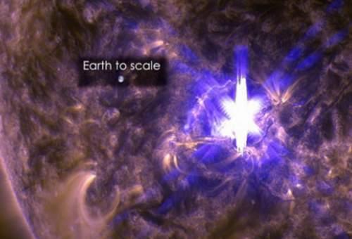 Explozie solară uriașă