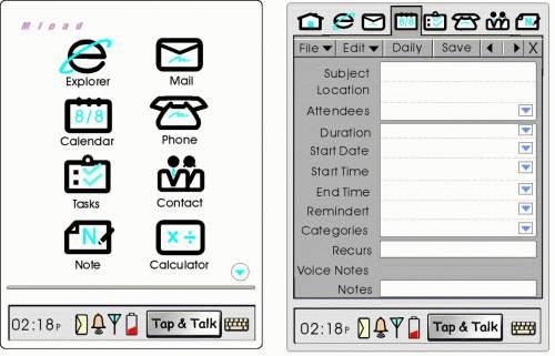 MiPad de la Microsoft