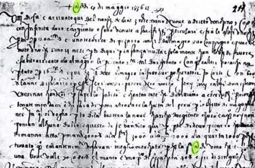 Simbolul @ în scrisoarea lui Francesco Lapi