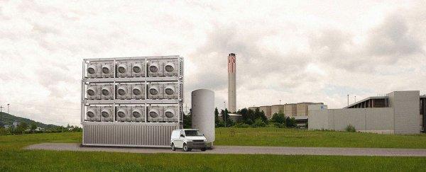 Instalație de captare a dioxidului de carbon din atmosferă