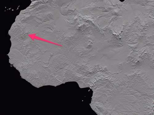 Ochiul Saharei pe hartă