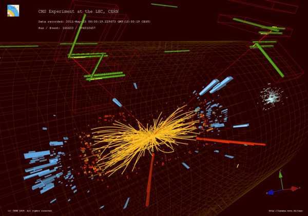 Ciocnirile proton-proton din experimentul CMS de la LHC-CERN