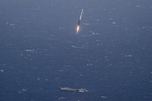 Aterizarea unei rachete SpaceX