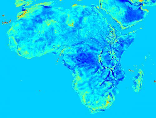 Harta câmpului gravitațional din Africa