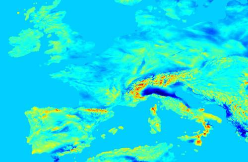 Harta câmpului gravitațional din Europa