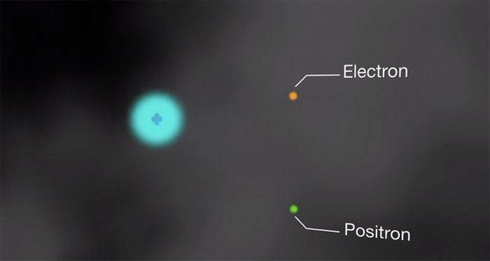 O pereche electron-pozitron