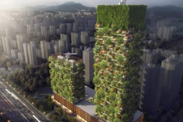 Blocurile turn ce vor forma pădurea verticală din Nanjing