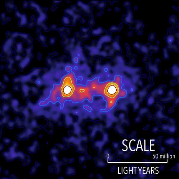Filamentele de materie întunecată unesc galaxiile