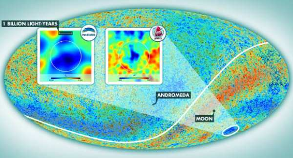 Harta radiației cosmice de fond