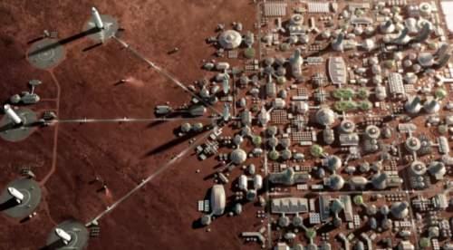 Conceptul unui oraș pe Marte