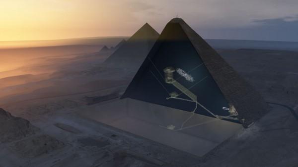Spațiul gol de deasupra Galeriei Mari din Marea Piramidă de la Giza