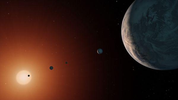 Sistemul planetar din jurul stelei TRAPPIST-1