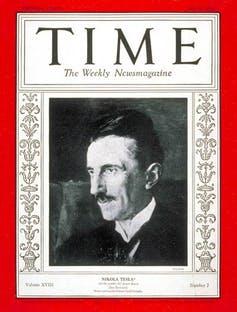 Tesla pe coperta revistei Time