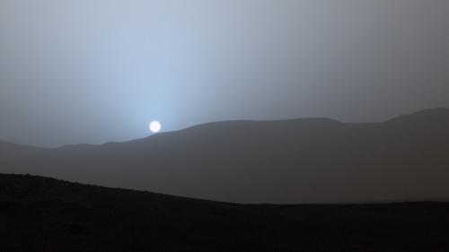 Apus de Soare pe planeta Marte