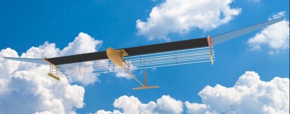 Aeronavă cu motor ionic