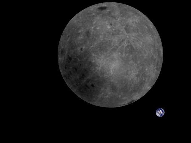 Fața ascunsă a Lunii și Pământul