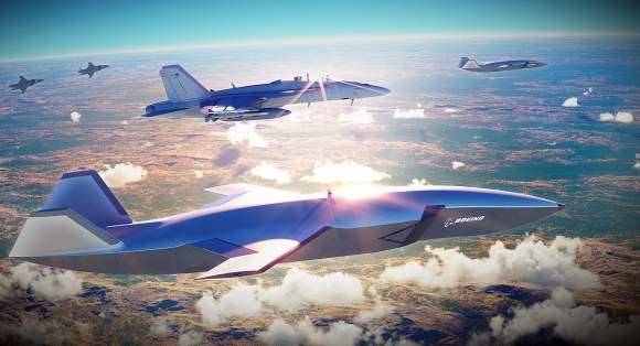 Avionul autonom de luptă Boeing în misiune