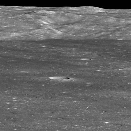 Poziția robotului (rover) Chang'e 4 pe solul lunar