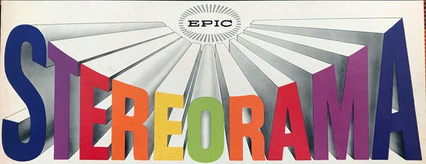 Album stereo demonstrativ Epic Records