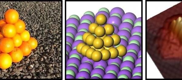 Atomii de aur formează tetraedre